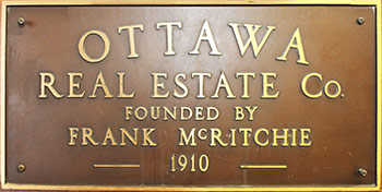 Ottawa Real Estate - Frank McRitchie 1910 - Moose Jaw