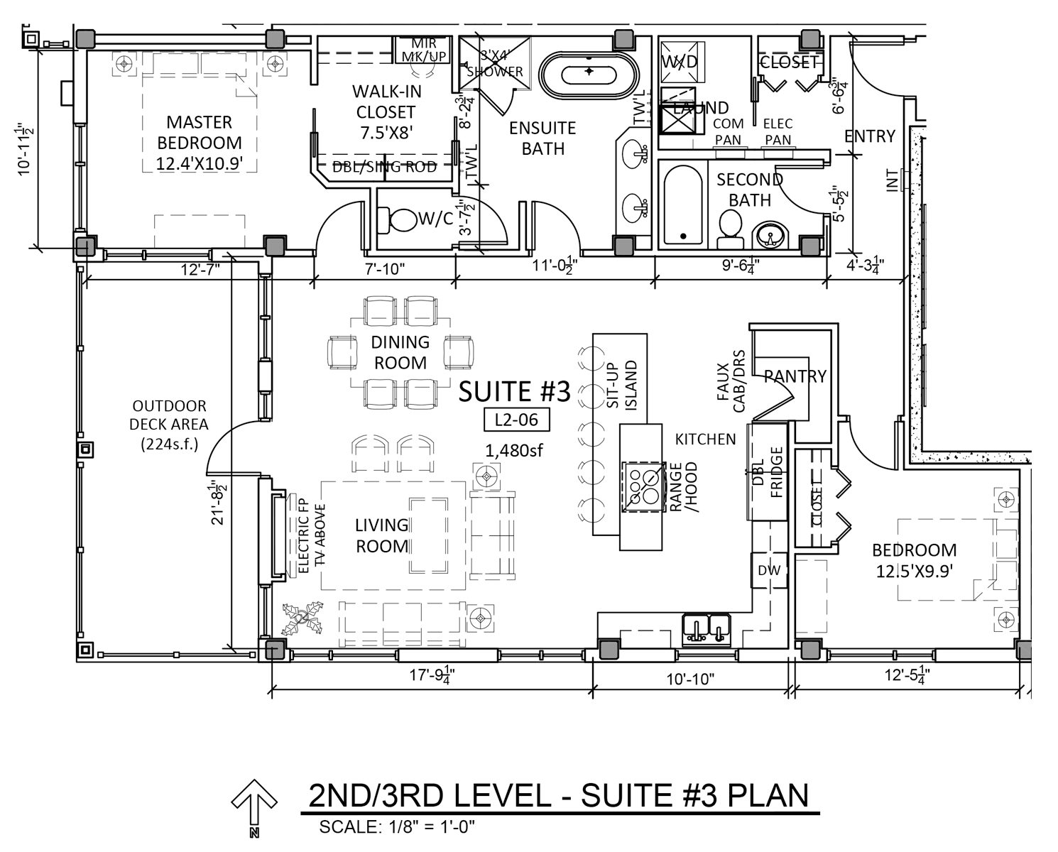 Suite 3 - Floor Plan - Fairford Apartments - 160 Fairford St E - Moose Jaw